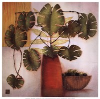 Olive Bowl And Vase Fine-Art Print