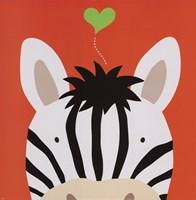 Peek-A-Boo Zebra Fine-Art Print
