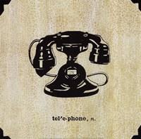 Office Telephone Framed Print