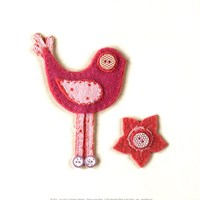 Fuzzy Bird I Fine-Art Print