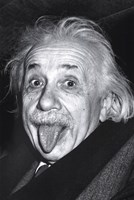 Albert Einstein - Tongue Wall Poster