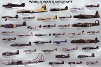 World War II Aircraft Wall Poster
