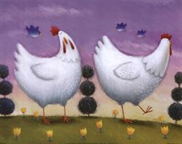 Funky Chickens Fine-Art Print