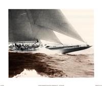 Mariner's Museum - Rainbow's Finish 1934 Vintage Maritime Fine-Art Print
