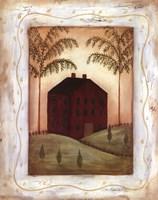 Red Meeting House Fine-Art Print