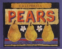 Pear Crate Label Fine-Art Print