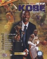 Kobe Bryant 2008 MVP Portrait Plus; LA Lakers Fine-Art Print