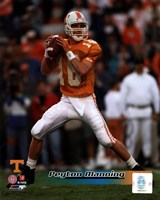 Peyton Manning University of Tennessee Volunteers Action Fine-Art Print