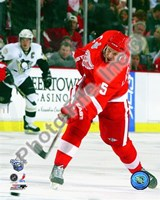 Nicklas Lidstrom Game 1 of the 2008 NHL Stanley Cup Finals Action; #2 Fine-Art Print