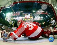 Chris Osgood Game 2 of the 2008 NHL Stanley Cup Finals Action; #7 Fine-Art Print