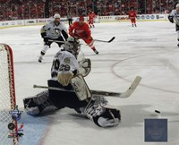 Marc-Andre Fleury in Game 5 of the 2008 NHL Stanley Cup Finals; Action #17 Fine-Art Print