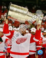 Johan Franzen with the Stanley Cup, Game 6 of the 2008 NHL Stanley Cup Finals; #31 Fine-Art Print