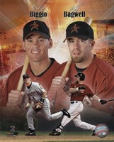 Craig Biggio and Jeff Bagwell Portrait Plus, 1999 Fine-Art Print