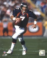 John Elway Rolling Out, Action Fine-Art Print