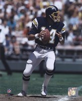 Dan Fouts Dropping Back Action Fine-Art Print