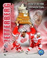 Henrik Zetterberg 2007-08 NHL Conn Smyth Trophy Winner Portrait Plus Fine-Art Print