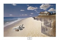 Beach House View Fine-Art Print