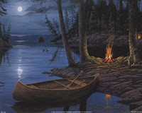 Camp Fire Canoe Fine-Art Print