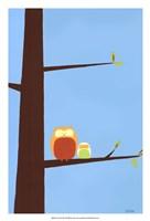Tree-top Owls I Fine-Art Print