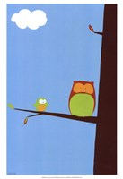 Tree-top Owls II Fine-Art Print