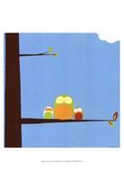 Tree-top Owls III Fine-Art Print