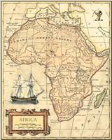 Africa Map Fine-Art Print