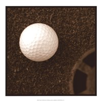 Sepia Golf Ball Study I Fine-Art Print