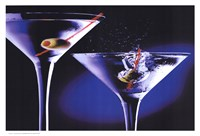 MARTINIS WITH OLIVES Fine-Art Print