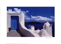 White with Blue Dome Fine-Art Print