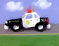 Police Car Fine-Art Print
