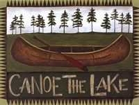 Canoe On The Lake Fine-Art Print