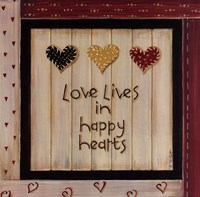 Love Lives In Happy Hearts Fine-Art Print