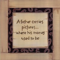 A Father Carries Fine-Art Print