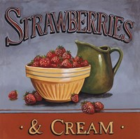 Strawberries & Cream - mini Fine-Art Print