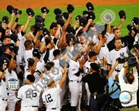 The New York Yankees Salute the Crowd after the Final Game at Yankee Stadium 2008 Fine-Art Print