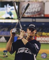 Justin Morneau with the 2008 MLB Home Run Derby Trophy Fine-Art Print