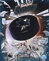 2008 San Jose Sharks Team Logo Fine-Art Print