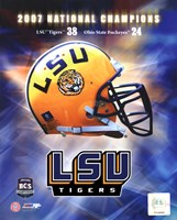 LSU BCS National Champs logo photo Fine-Art Print