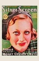 Joan Crawford - Green Silver Screen Fine-Art Print