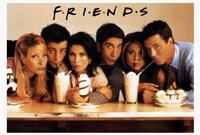 Friends (TV) Cast Drinking Milkshakes Fine-Art Print