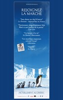 March of the Penguins Vertical Fine-Art Print