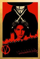 V for Vendetta Black and Red Fine-Art Print
