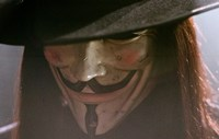 V for Vendetta Close Up Screen Shot Fine-Art Print