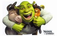 Shrek the Third - Hugging Donkey & Puss in Boots Fine-Art Print