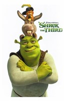 Shrek the Third Main Characters Fine-Art Print