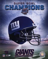 New York Giants SuperBowl XLII Champions Helmet Photo Fine-Art Print