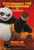 Kung Fu Panda Kicking Fine-Art Print