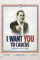 Barack Obama -  (Iowa Caucus) Campaign Poster Wall Poster