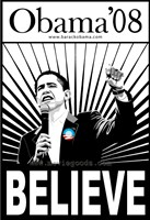 Barack Obama - (Believe) Campaign Poster Wall Poster