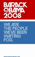 Barack Obama - (Red, White and Blue) Campaign Poster Wall Poster